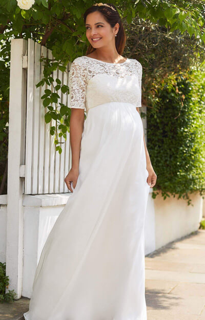 Alaska Maternity Silk Chiffon Wedding Gown