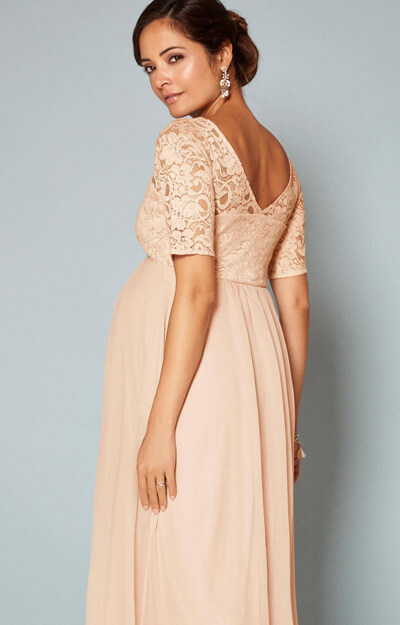 Alaska Maternity Chiffon Gown in Peach Blush