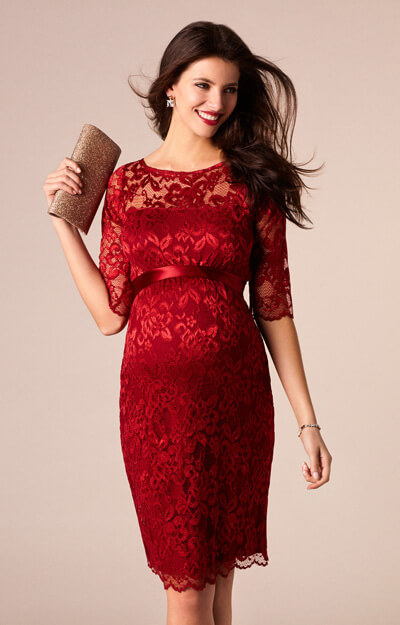 Amelia Maternity Dress Short Rouge by Tiffany Rose