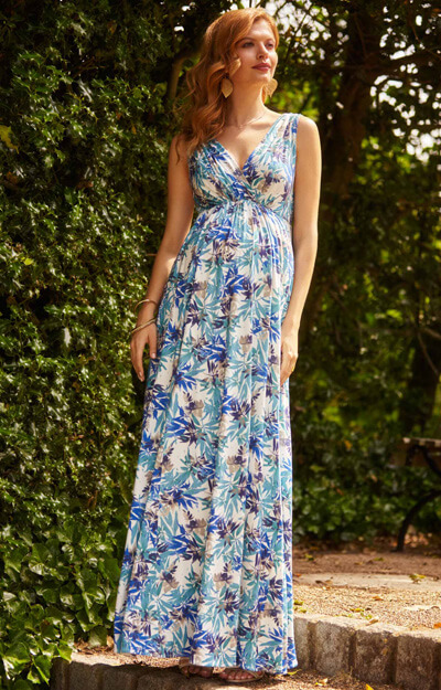 Anastasia Maternity Gown Long Blue Nile