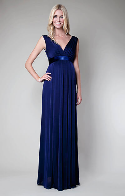 Anastasia Maternity Gown Eclipse Blue Maternity Wedding