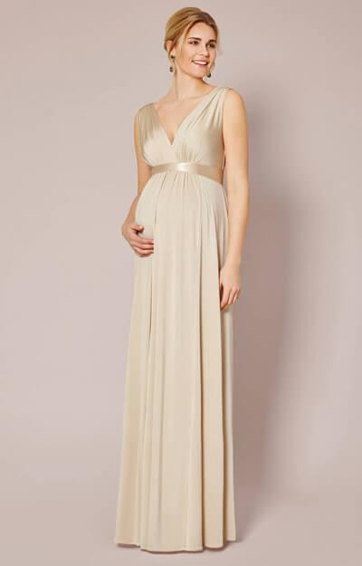 Anastasia Maternity Gown Gold Dust Maternity Wedding