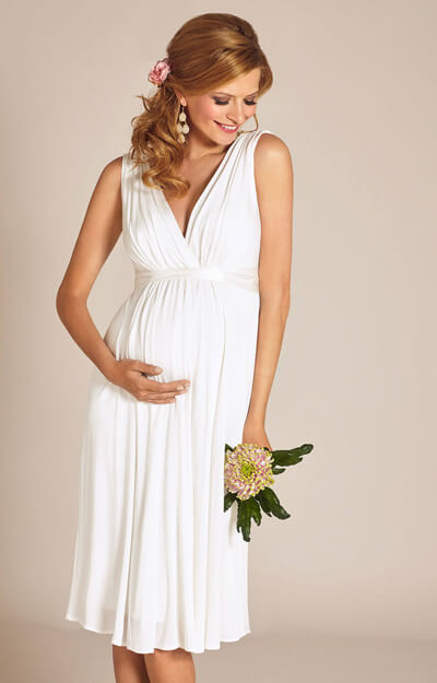 Anastasia Maternity Wedding Dress Short (Ivory)