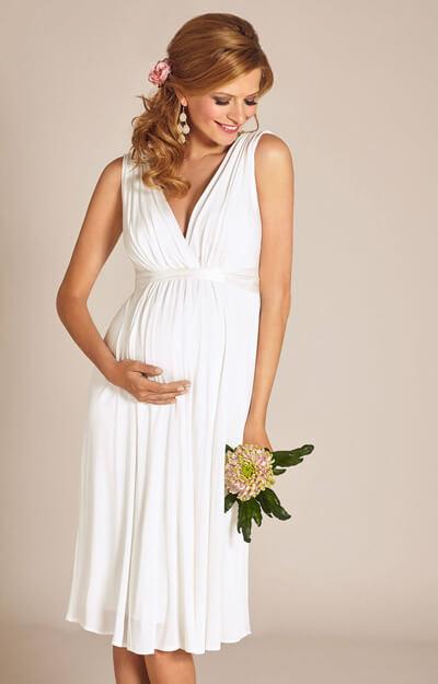 Anastasia Maternity Wedding Dress Short (Ivory) - Maternity ...