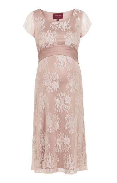 April Nursing Lace Dress Blush