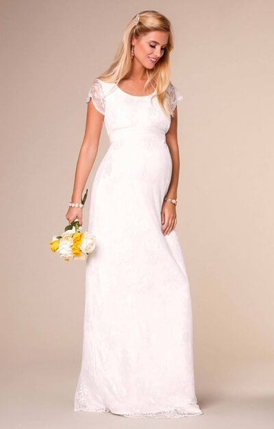 April Wedding Nursing Lace Gown Long Ivory by Tiffany Rose