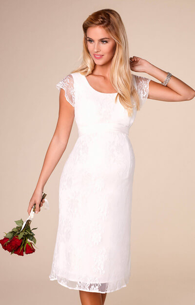 April Wedding Nursing Lace Dress Ivory by Tiffany Rose