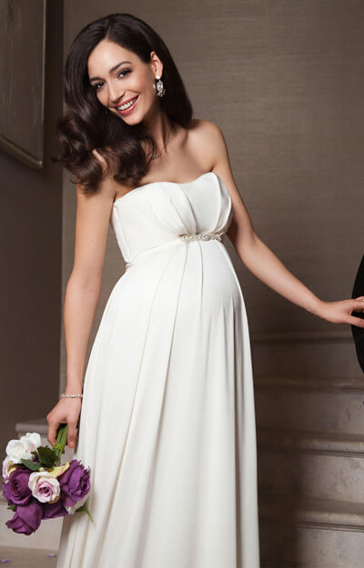 Annabella Maternity Wedding Gown (Ivory)