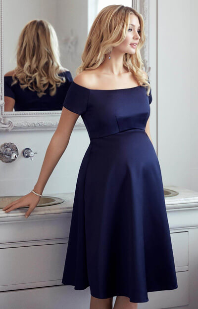 Aria Maternity Dress Midnight Blue Maternity Wedding