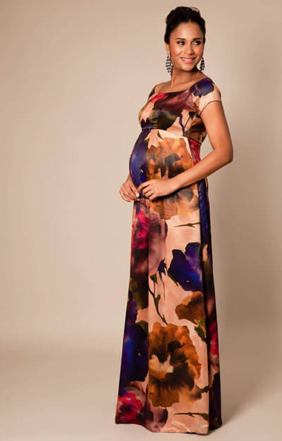 Aria Maternity Gown long Exotic Bloom