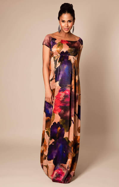 Aria Maternity Gown long Exotic Bloom by Tiffany Rose