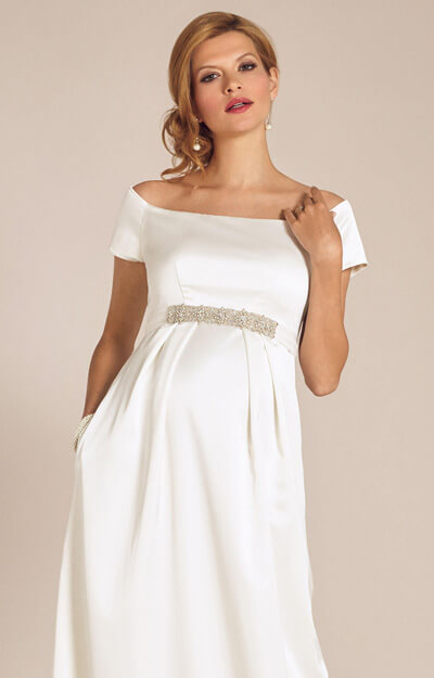 Aria Maternity Wedding Gown Ivory