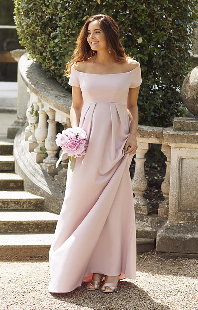 Aria Maternity Gown Mellow Rose Pink by Tiffany Rose