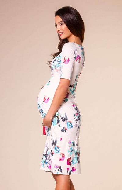 Anna Maternity Shift Dress Painterly Floral