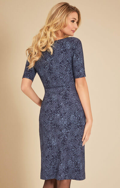 Anna Shift Maternity Dress in Storm Blue