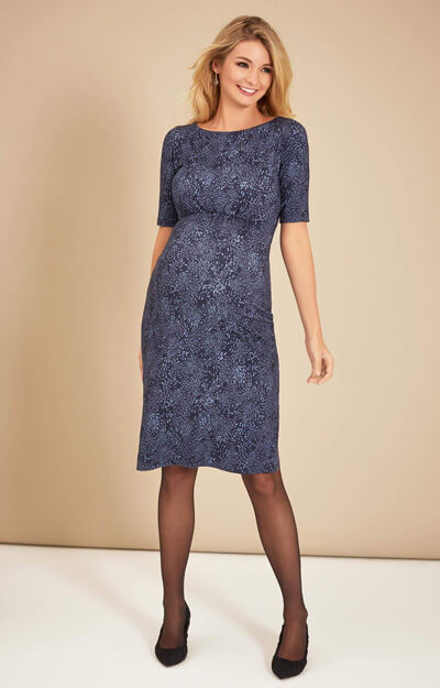 Anna Shift Maternity Dress in Storm Blue by Tiffany Rose