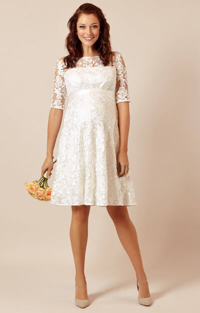 Asha Maternity Wedding Dress Ivory White by Tiffany Rose