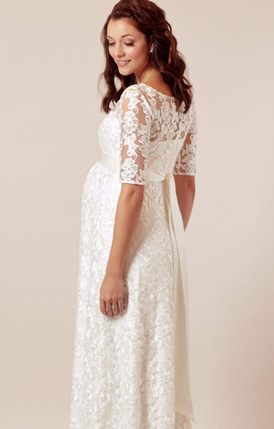 Asha Maternity Wedding Gown Ivory White