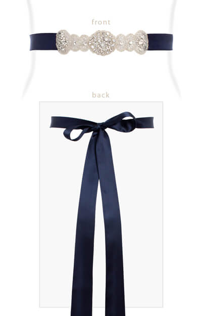 Aurelia Vintage Maternity Sash (Midnight Blue) by Tiffany Rose