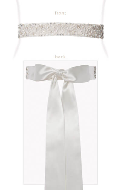 Crystal Empire Sash Ivory