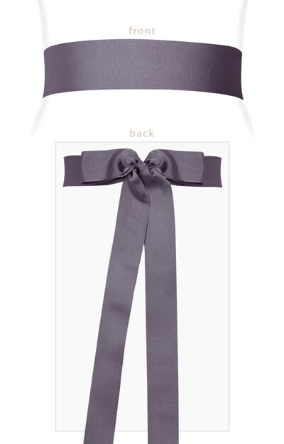 Grosgrain Ribbon Sash (Pewter) by Tiffany Rose