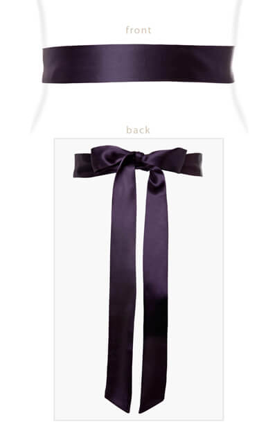 Smooth Satin Sash Blackberry by Tiffany Rose