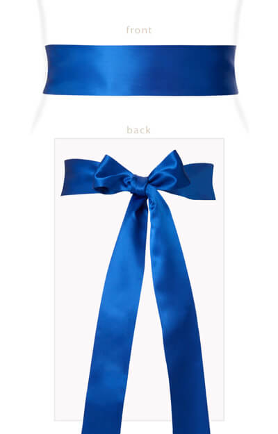 Smooth Satin Sash Blue Sapphire by Tiffany Rose
