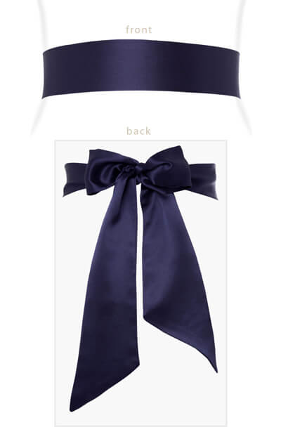 Smooth Satin Sash Midnight Blue by Tiffany Rose