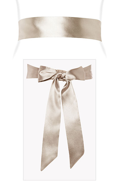 Smooth Satin Sash (Oyster) by Tiffany Rose