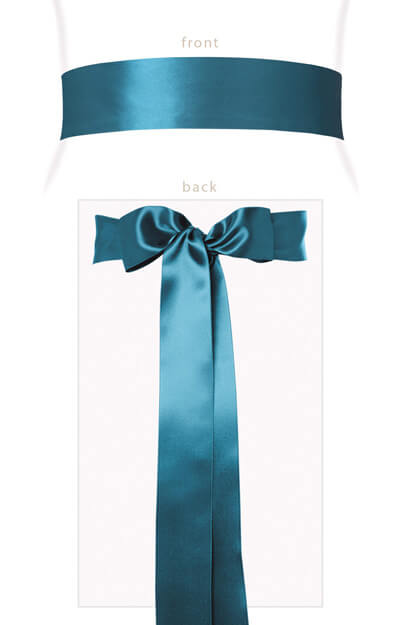 Smooth Satin Sash Storm Blue by Tiffany Rose