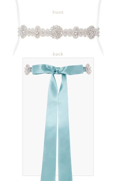 Vintage Sash (Peppermint) by Tiffany Rose