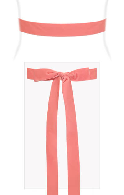 Velvet Ribbon Sash Candy Pink by Tiffany Rose