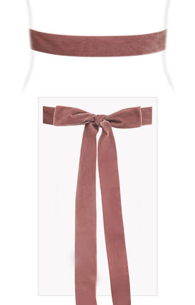 Velvet Ribbon Sash Dusty Rose by Tiffany Rose