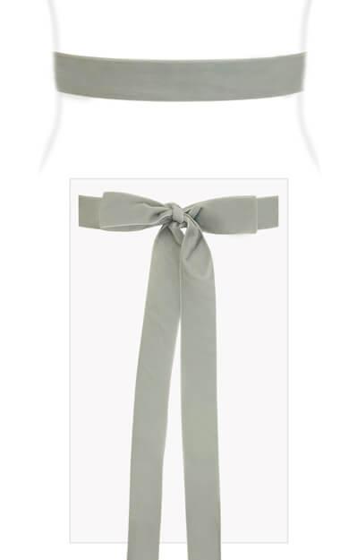 Velvet Ribbon Sash Pale Aqua by Tiffany Rose
