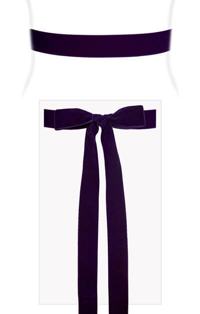 Velvet Ribbon Sash Purple by Tiffany Rose