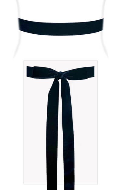 Velvet Ribbon Sash Rich Navy by Tiffany Rose