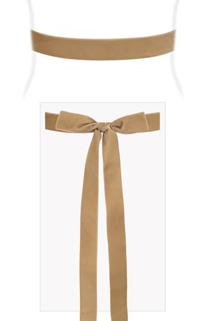 Velvet Ribbon Sash Sand by Tiffany Rose