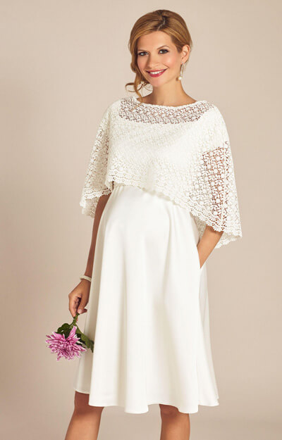 Boho Lace Wedding Capelet Ivory