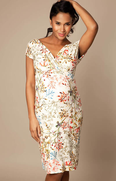 Bardot Maternity Shift Dress Short Watercolour Meadow