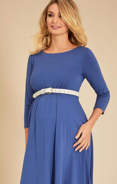 Cathy Maternity Dress Short Bijou Blue
