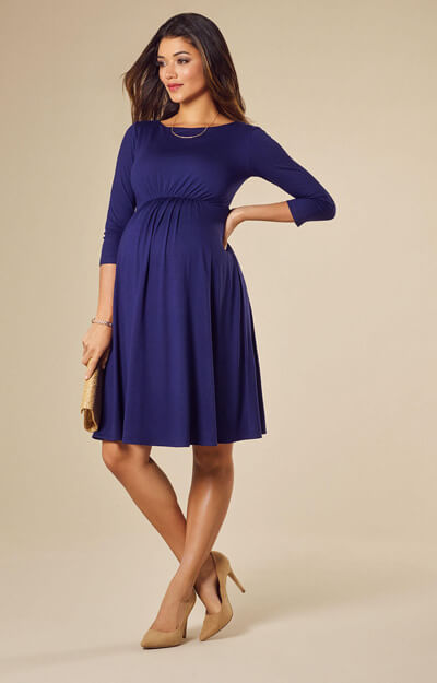 Cathy Maternity Dress Short Eclipse Blue