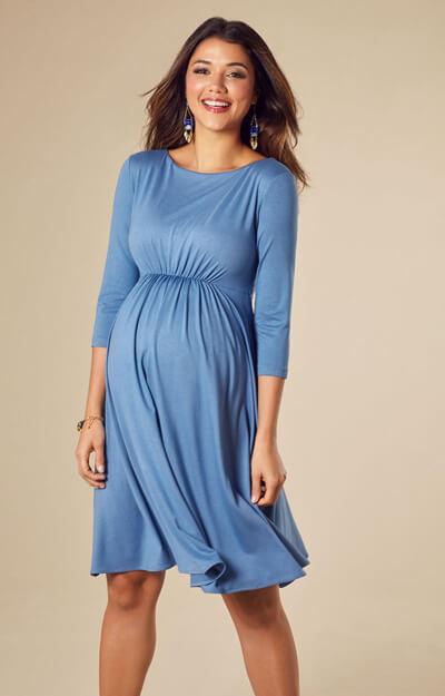 Cathy Maternity Dress Short Lagoon Blue - Maternity Wedding Dresses ...