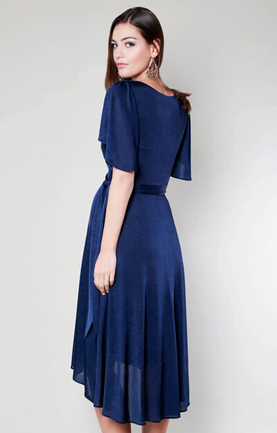 Cocoon Nursing Dress (Velvet Blue)