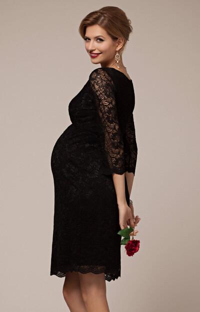Chloe Lace Maternity Dress Black Maternity Wedding