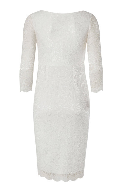Chloe Lace Maternity Wedding Dress (Ivory)