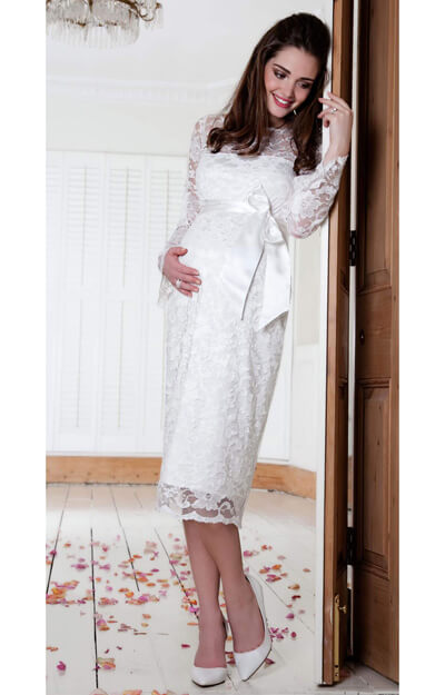 Chloe Maternity Dress (Ivory)