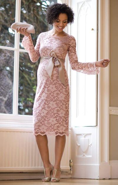 robe de grossesse chloe vieux rose robes de maternit de mari e tenues de maternit de. Black Bedroom Furniture Sets. Home Design Ideas