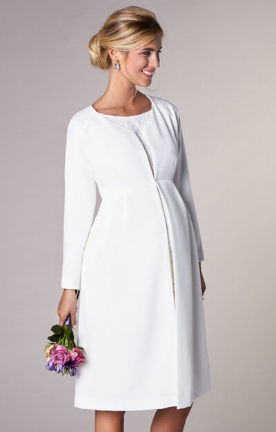 Christie Maternity Wedding Dress Coat Ivory by Tiffany Rose