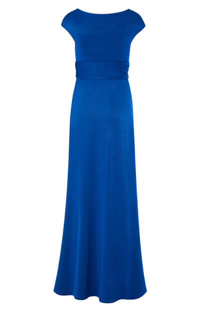 Clara Maternity Gown Long Cobalt Blue