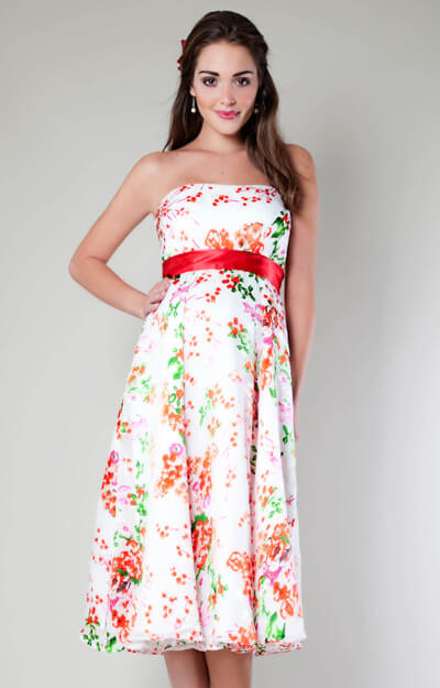 Clementine Floral Maternity Gown (Short) by Tiffany Rose